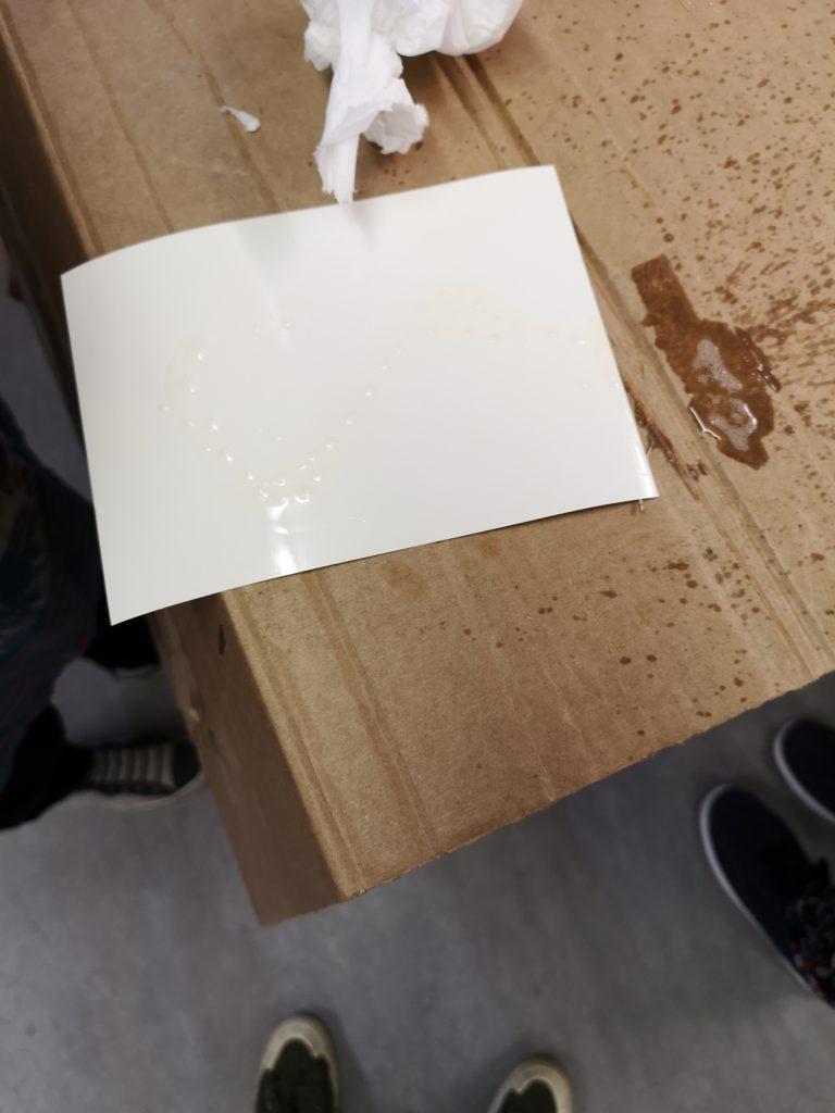 Chemigram workshop/ preparing a resist/ alternative photographic process/ art print