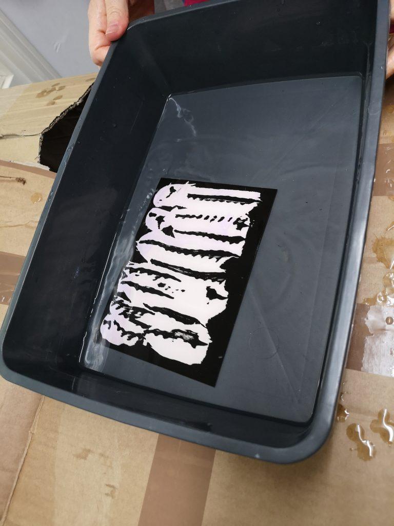 Chemigram workshop/ fixer bath/ alternative photographic process/ art print