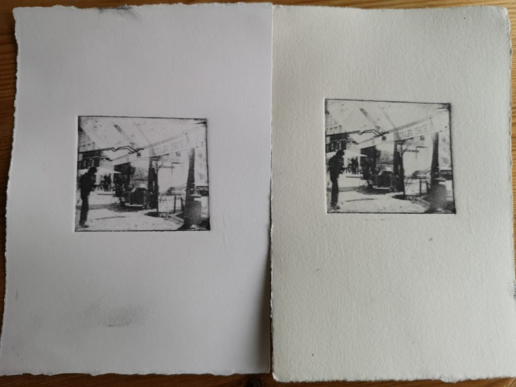 alternative photographic process/ intaglio photopolymer etching/ art print